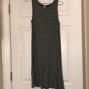 Green Trapeze Dress